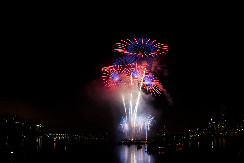 Boston fireworks, copyright Jeff Tamagini