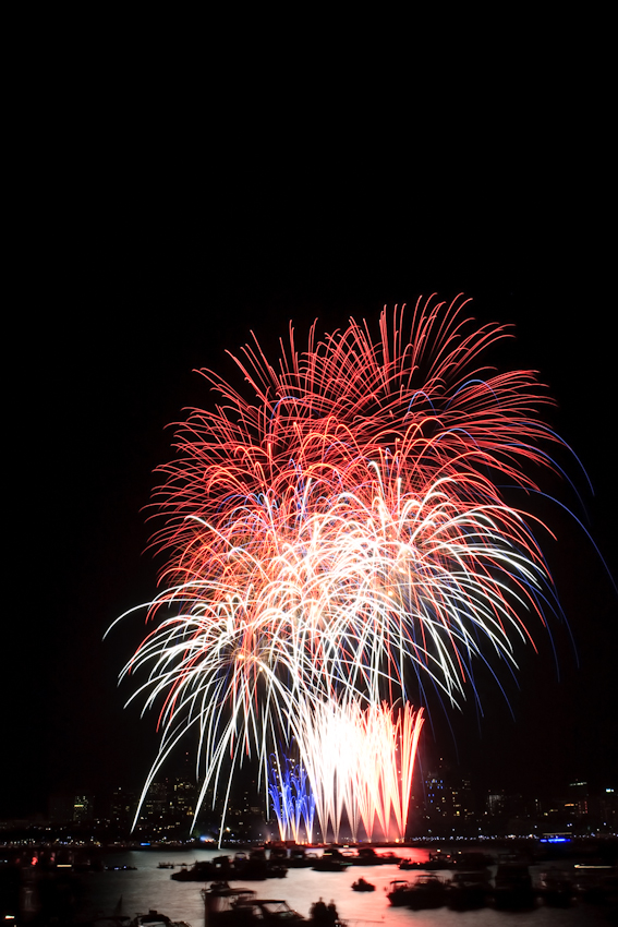 Fireworks in Boston, copyright Jeff Tamagini