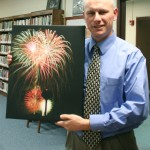 Fireworks on canvas, a gallery wrapped canvas print, copyright Justin Sperry