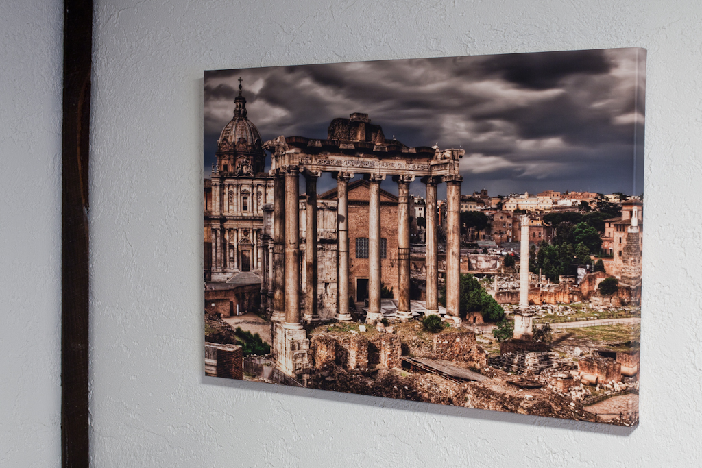 Close up of Italy ruins, canvas gallery wrap by HDR photographer, Brian Matiash