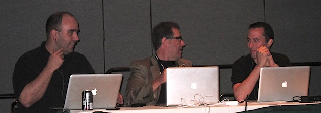 "Richard Harrington, Scott Kelby and Matt Kloskowski, instructors of the ""Blogging for Photographers"" session at Photoshop World in Orlando, April 2011"